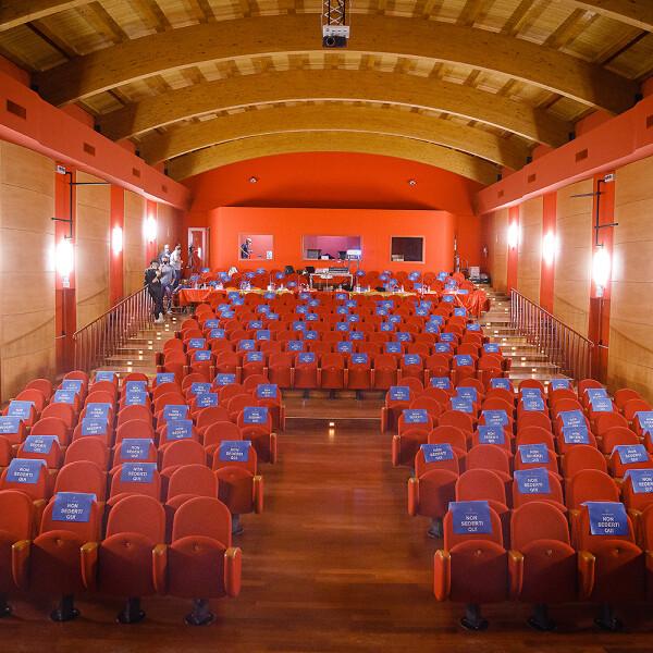La Platea dell'auditorium G.-Comisso-zero-Branco-TV